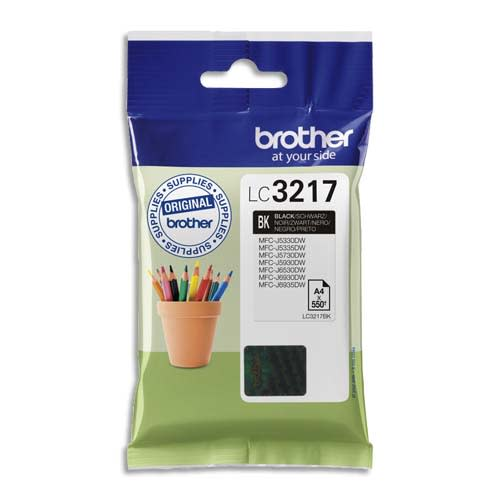 BROTHER Cartouche Jet encre LC3217BK photo du produit Principale L