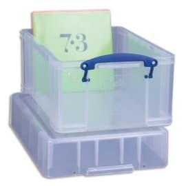 RLU Bac plastique 9L transparent Extra Large avec couvercle pour disques vinyles L39,5 x H20,5 x P25,5 cm photo du produit