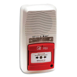 LIFEBOX Alarme incendie type 4 Blanche, centrale autonome sur pile, 90Db - Dim : L12,6 x H24,2 x P6,6 cm photo du produit