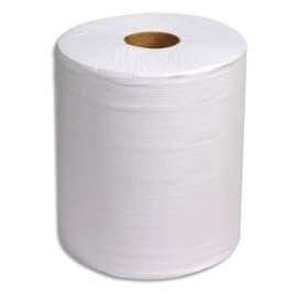 Lot de 2 Bobines d'essuyage 800 formats Blanches 2 plis gaufrée recyclée - Format : 30 x 26 cm photo du produit
