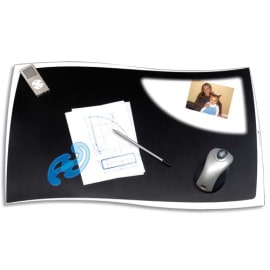 CEP Sous-main Ellypse en polystyrène - Dimensions : L63 x P42 cm, épaisseur 0,55 mm coloris Noir photo du produit