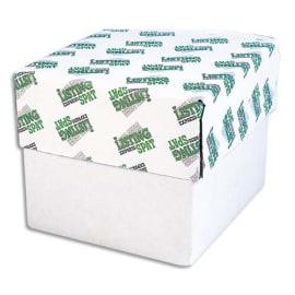 ELVE Boîte de 500 paravents listing 240x12 pouces 4 exemplaires Blanc bande caroll détachable photo du produit