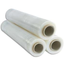 Film étirable manuel polyéthylène CAST tricouche PE-LD 23 microns L300 m x H450 mm transparent photo du produit