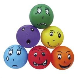 Lot de 6 ballons 6 émotions, en PVC regonflable, diamètre 20 cm, 6 coloris différents photo du produit