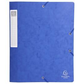 EXACOMPTA Boîte de classement dos 2,5 cm, en carte lustrée 5/10e coloris Bleu photo du produit
