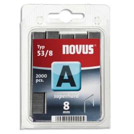 NOVUS Blister de 2000 agrafes 53/8 J13/17/27 photo du produit