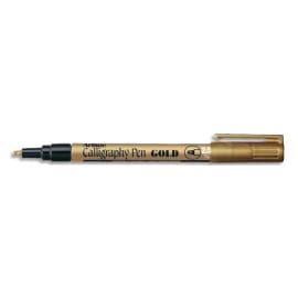 ARTLINE Stylo calligraphie pointe fibre biseautée 2,5mm. Coloris Or photo du produit