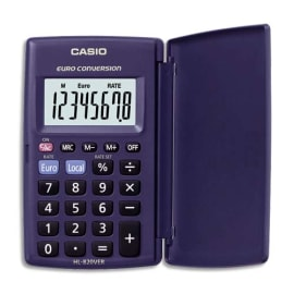 CASIO Calculatrice de poche étui rigide conversion euro 8 chiffres HL820VER photo du produit
