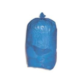 Carton de 8 rouleaux de 25 sacs poubelles 110L Bleu 30 microns photo du produit