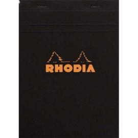 RHODIA Bloc de direction couverture Noire 80 feuilles (160 pages) format A5 réglure 5x5 photo du produit