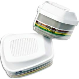 3M Boîte de 4 Cartouches ABEK2P3 vapeurs organiques, inorganiques, gaz acides, amoniaque… K6099 photo du produit