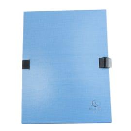 EXACOMPTA Chemise extensible 223500, recouverte de papier contrecollé Bleu photo du produit