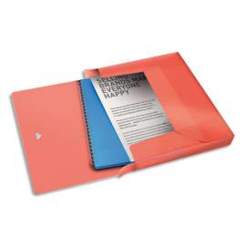 ESSELTE Boîte de classement Colour Ice dos de 4 cm, en polypropylène 7/10ème. Coloris Pêche photo du produit