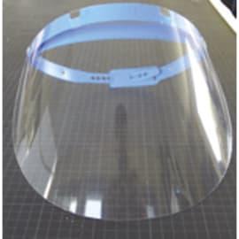 Visière protection Polycarbonate avec serre tête réglable. Dimensions 31,5X19,5cm photo du produit