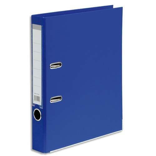 Classeur à levier en polypropylène intérieur/extérieur. Dos 5 cm. Format A4. Coloris Bleu foncé. photo du produit Principale L