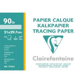 CLAIREFONTAINE Pochette de 12 feuilles 95g papier calque format A4 Ref-96853 photo du produit
