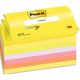 POST-IT Lot de 6 Recharges Z-notes 100 feuilles 7,6 x 12,7 cm coloris néon assortis photo du produit