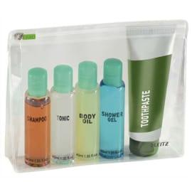 LEITZ Sachet de 2 pochettes enveloppe à zip + soufflet Traveller PVC 2/10è, format M, coloris transparent photo du produit