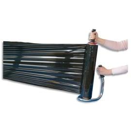 Rouleau de film étirable manuel cast Noir 17 microns - Mandrin D7,6 cm, H45 cm x L300 mètres photo du produit
