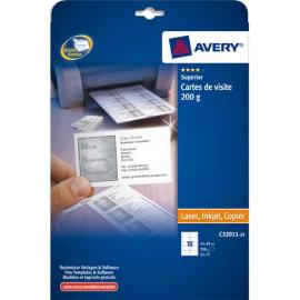 AVERY Pochette de 250 cartes de visite (85x54 mm) 200g coins droits Laser & Jet d'encre finition mate photo du produit