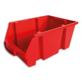 VISO Bac de rangement à bec 10L Spacy avec porte étiquette en polypropylène Rouge L20 x H15 x P33 cm photo du produit