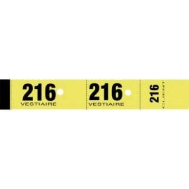 ELVE Bloc de 50 tickets vestiaire 3x20 cm Jaune photo du produit