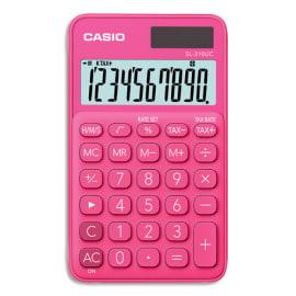 CASIO Calculatrice de poche 10 chiffres Rouge/Rose (Fuchsia) SL-310UC-RD-S-EC photo du produit
