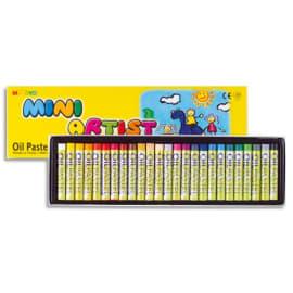 MUNGYO Boîte de 24 Pastels à l'huile, pigmentation extra fine, fort pouvoir couvrant, D8 x L59mm assortis photo du produit