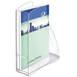 CEP Porte-revues Ellypse en polystyrène - Dimensions : H32,5 x P27,8 cm, Dos 8,3 cm cristal photo du produit