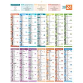 CBG Calendrier carte de France, recto grille 14 mois et verso carte de France - format : 43 x 55 cm photo du produit