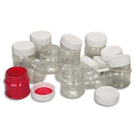 ART PLUS Sachet de 12 flacons vides contenance 50ml avec couvercles photo du produit