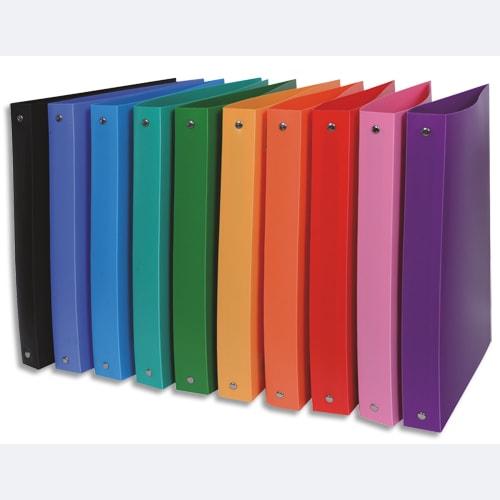 Classeur 26x32cm polypropylène opaque 5/100°. Dos 4cm. 10 coloris photo du produit Principale L