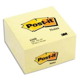 POST-IT Cube POST-IT® Jaune Pastel, 76 x 76 mm, 450 feuilles photo du produit