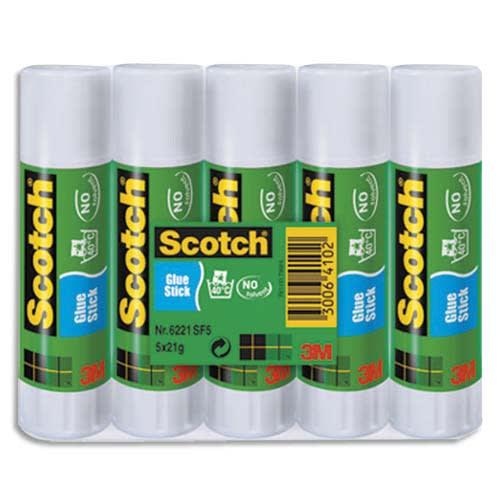 SCOTCH Lot de 5 bâtons de colle économique de 21 grammes photo du produit Principale L