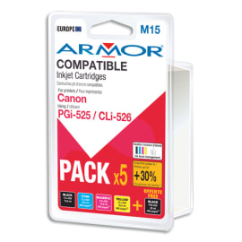 ARMOR compatible Jet d'encre Lot pour CANON PGI-525, CLI-526 BCMY B10177R1 photo du produit