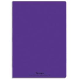 CONQUERANT C9 Cahier piqûre 21x29,7cm 96 pages 90g grands carreaux Séyès. Couverture polypropylène Violet photo du produit