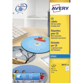 AVERY Boîte de 50 étiquettes jet d'encre monochrome pour CD et DVD J8676-25 photo du produit