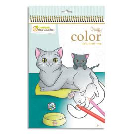AVENUE MANDARINE Book 24 feuilles format 21 x 34cm à colorier Graffy Color,Maman/bébé Animaux familier photo du produit