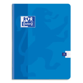 OXFORD Cahier COLORLIFE piqûre 96 pages Seyès 24x32. Couverture carte coloris Bleu photo du produit