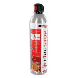 LIFEBOX Aérosol 0,73 kg Fire Stop 600CC eau et mousse, 5A 21B 5F, jet 3m, 11 bars, tous types de feux photo du produit