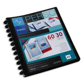 VIQUEL Protège-documents MAXI GEODE en pp opaque 5/10e. Couv personnalisable. 60 vues. Coloris Noir photo du produit
