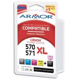 ARMOR Pack 5 comp canon pgi570 cli571xl bpbcmy b10381r1 photo du produit