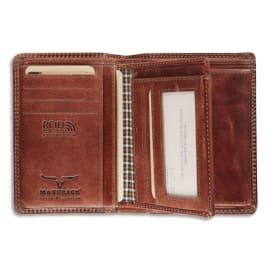 MAVERICK Portefeuille RFID Dalian II, 8 compartiments, poche monnaie - ft : 9,5 x 13,3 cm Marron photo du produit