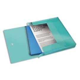 ESSELTE Boîte de classement Colour Ice dos de 2,5 cm, en polypropylène 7/10ème. Coloris Bleu photo du produit