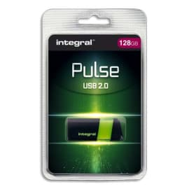 INTEGRAL Clé USB 2.0 PULSE 128Go Verte INFD128GBPULSEGR photo du produit