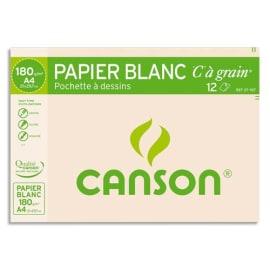 CANSON Pochette de 12 feuilles de papier dessin C A GRAIN 180g A4 Ref-27107 photo du produit
