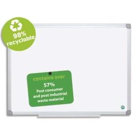 BI-OFFICE Tableau Blanc Earth acier émaillée, magnétique, cadre aluminium, recylcé Format L180 x H120 cm photo du produit