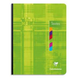 CLAIREFONTAINE Cahier de texte broché 144 pages grands carreaux Séyès 17x22cm. Couverture carte photo du produit