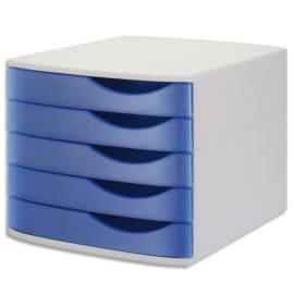 JALEMA Module de classement Silky Touch Bleu transparent. Dim. L38 x H30,5 x P28 cm photo du produit