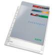 ESSELTE Sachet de 10 pochettes à soufflets pour revues, en PVC 18/100e, perforation 11 trous photo du produit